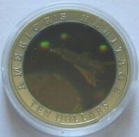 Liberia 10 Dollars 2002 American Heritage Space Shuttle Hologramm