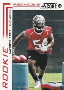 2012 Score Buccaneers Red Zone Red SP Lavonte David Rookie SP RC 01/20