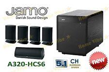 NEW JAMO A320-HCS6 PREMIUM 5.1CH HOME THEATRE SPEAKER PACKAGE ~ BLACK ~ RRP$1499