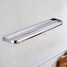 Polished Chrome Towel Rail Holder Bathroom Wall Mounted Double Towel Rails Bars