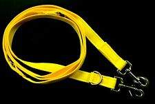11ft Police Style Dog Training/Obedience Lead 25mm Cushion Webbing In Yellow