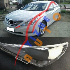 For Hyundai Sonata 11-14 Replace Left Side Transparent Headlight Cover PC+Glue