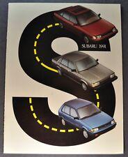 1991 Subaru Catalog Brochure Legacy Loyale Justy Excellent Original 91 Canadian