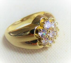 Men's 2.25 CWT Kentucky Cluster 7-Stone Diamond Ring 18K Yellow Gold - Beautiful