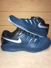 New Nike Federer RF Air Zoom Vapor X HC Tennis Shoe Blue (AA8030-300) Mens sz 7