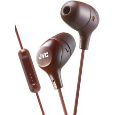 Jvc Hafx38Mt Marshmallow Inner-Ear Headphones with Microphone (Brown)