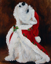 WESTIE JOY TO THE WORLD GARDEN FLAG FREE SHIP USA RESCUE
