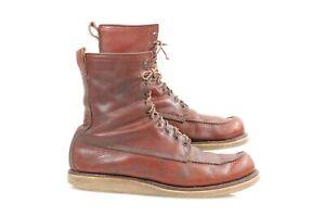 vtg  1954's Red Wing Irish Setter Boots sz 15 B USA moc - toe  USA Made