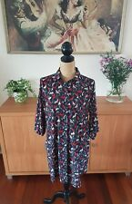 Horse Print Western Style Quirky Ladies Shirt Dress M