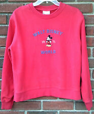 New listing Walt Disney World 1971 Mickey Mouse Red Sweatshirt Sz L Vtg 100% Cotton