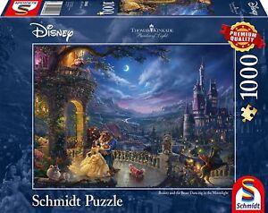 Beauty and the Beast: Schmidt Disney Premium Thomas Kinkade Jigsaw Puzzle 1000 p