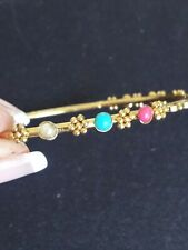 VTG.BRASS & STONES BANGLE BRACELET