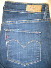 Levis Demi Curve Straight Mid Rise Stretch Womens Blue Jeans Size 11 x 29  Mint
