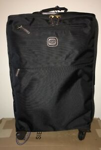 """BRIC'S MILANO Siena Trolley Carry On Travel Bag  Suitcase Spinner Black 25"""" NWT"""