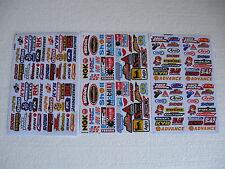 3x Mini Sticker Bomb Aufkleber Decal Automodelbau 1:10 1:20 Motorcross Racing