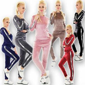 Women's Tracksuit Sweatsuit Yoga Fitness Gym Workout Track Pants Jacket 6 colors