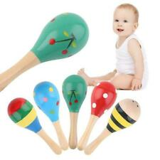 Wooden Maraca Rattles Musical Instrument Baby Shaker Toy Kid's Party Toys NEW