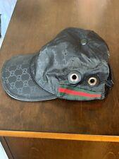 BLACK LEATHER TRIM GUCCI  CAP Size XL Adjustable