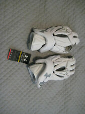 Under Armour Command Pro lacrosse gloves NEW white M medium 12