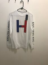 Tommy Hilfiger Men's T-shirt Size M White Long Sleeves Regular Price $ 45.50