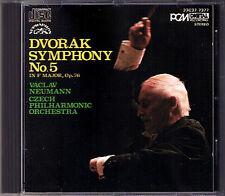 Vaclav NEUMANN: DVORAK Symphony No.5 DENON JAPAN CD 1985 Czech Philharmonic