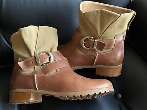 Timberland Leder Ankle Boots Stiefeletten 39,5 US 8,5 sehr gepflegter Zustand!