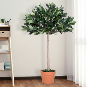 Outsunny Artificial Olive Tree Plant In an Orange Pot 90 cm for Home or Office