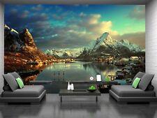 Lofoten Islands, Norway Photo Wallpaper Wall Mural DECOR Paper Poster Free Paste