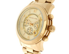 Michael Kors Runway Oversized MK8077 Watch-GOLD