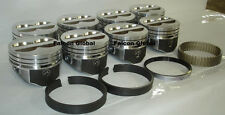 SPEED PRO Chevy 350/5.7 LT1 Hypereutectic Coated Pistons (8)+MOLY Rings +.030""