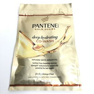 7 Pantene Gold Series Deep Hydrating Co-Wash Dry Damaged Hair 1.7 Ounce Packet