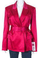 Adeam Womens Belted Tailored Belted Blazer Jacket Fuchsia Pink Size 4