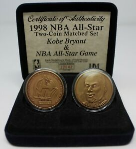 Kobe Bryant 1998 NBA All-Star Bronze Coins Limited to 1000