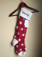 Pottery Barn Kids Natural Fair Isle Stocking Mommy Monogram NEW Red Dot WOOL