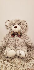 "18"" FAO Schwartz Teddy Bear With Plaid Bow Tie!"
