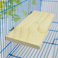 Wooden Cockatiel Parrot Bird Cage Perches Stand Platform-Pet Budgie Toy Han L4U3