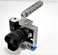 DSLR Video Cage Rig Stabilizer + Handle Grip for Sony A7 A7S II A6000 BMPCC GH4