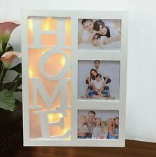 Indoor Battery Operated 10 Leds Xmas Christmas Warm White HOME Photo Frame New