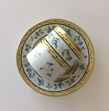 A. RAYNAUD et CIE Ceralene Limoges France espresso cup/saucer morning glory
