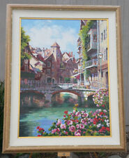 S. Sam Park Artist Proof Canvas AP LE 12/75 Annecy 44 x 35 S/N Hand Embellished