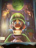 Luigis Mansion 3 Exclusive Metallic Pre Order Poster Nintendo Switch Limited