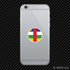 Round Central African Republic Flag Cell Phone Sticker Mobile CAR CF CAF
