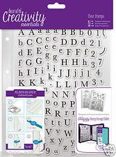 Docrafts Papermania Alpha Trad Alfabeto & Numero A5 SET TIMBRO + Tasca di archiviazione