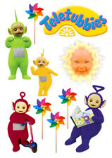 Teletubbies characters set of decoration ICING WAFER edible cake topper A4 size