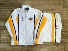 LA Lakers Warm Up Suit Jacket Pants Size 2XL White Snap Tear Away Pants