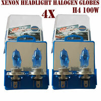 4x 90 100W H4 Super White Headlight Xenon Halogen Globes Car Light Bulb ASB