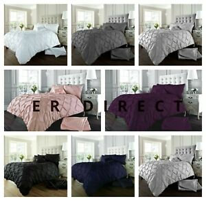 Pintuck Pleated Alford Duvet Cover Set Bedding Set With Pillowcases All UK Sizes