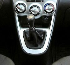 HYUNDAI i10 SHIFT BOOT suitable REAL LEATHER E STITCHING BLACK