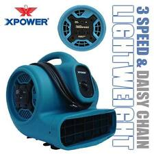 XPOWER X-400A 1600 CFM 1/4 HP Air Mover Carpet Dryer Floor Fan Blower w/ Outlets