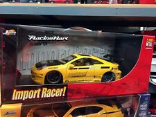 2002 TOYOTA CELICA DIE CAST 1/18 YELLOW BY JADA IMPORT RACER 63184